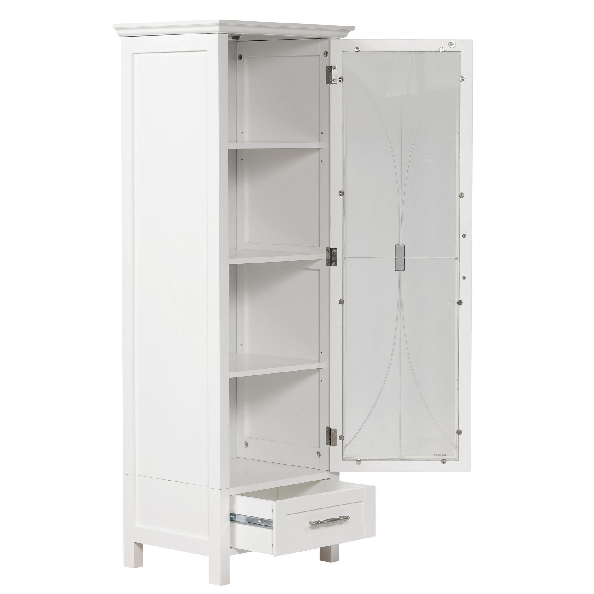 White Floor Standing Bathroom Storage Cabinet Unit Stribal within proportions 2000 X 2000