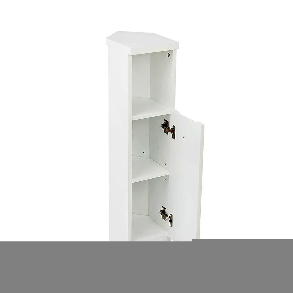 White Gloss Bathroom Corner Storage Cabinet pertaining to sizing 1000 X 1000
