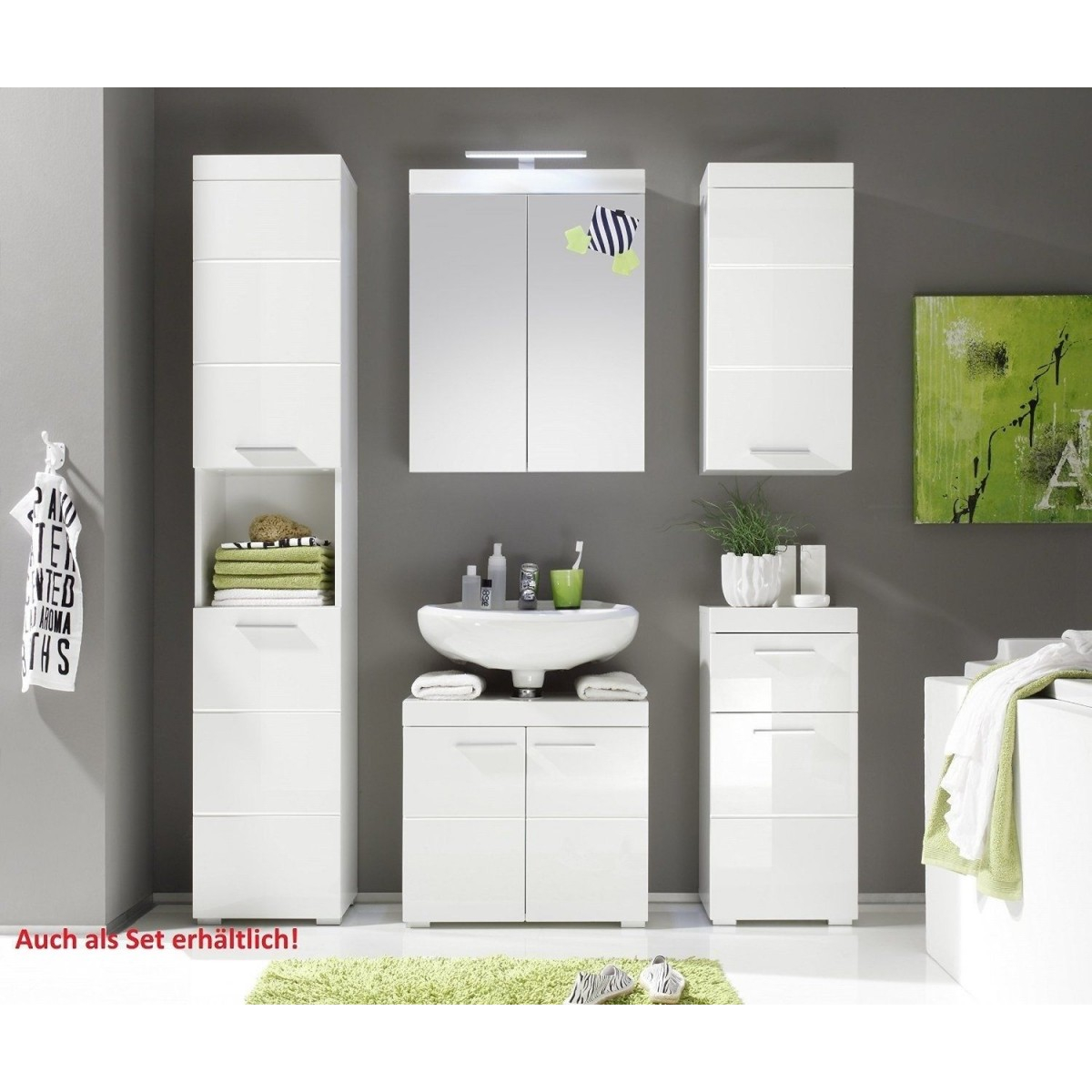 White High Gloss Free Standing Bathroom Storage Cabinet for dimensions 1200 X 1200