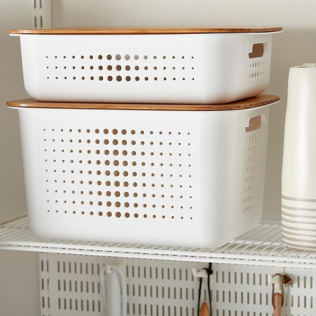 White Nordic Storage Baskets With Handles In 2019 Laundry in dimensions 1200 X 1200