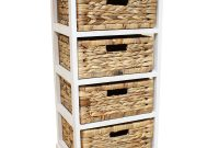 White Seagrass Basket Drawer Chest Storage Cabinetunit Home for measurements 1600 X 1600