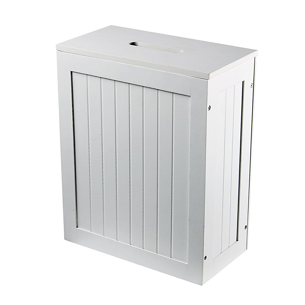White Slimline Shaker Storage Box inside measurements 1000 X 1000