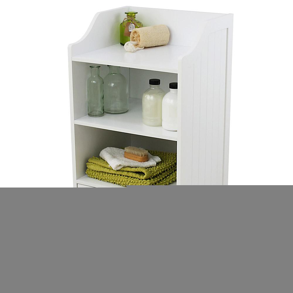 White Tongue Groove 2 Cupboard 3 Shelf Bathroom Storage Cabinet inside dimensions 1000 X 1000