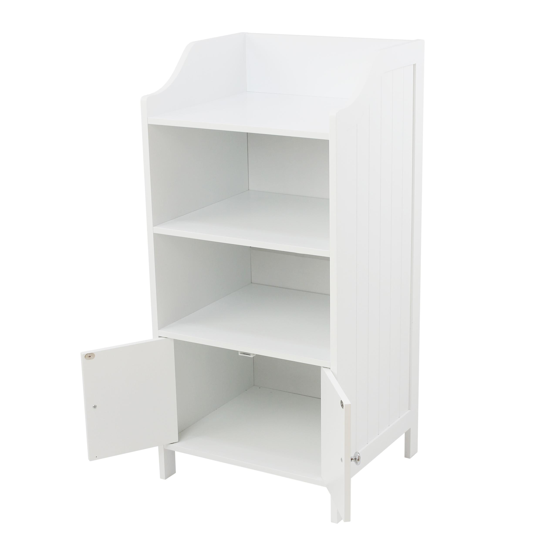 White Tongue Groove 2 Cupboard 3 Shelf Bathroom Storage Cabinet within measurements 2480 X 2480