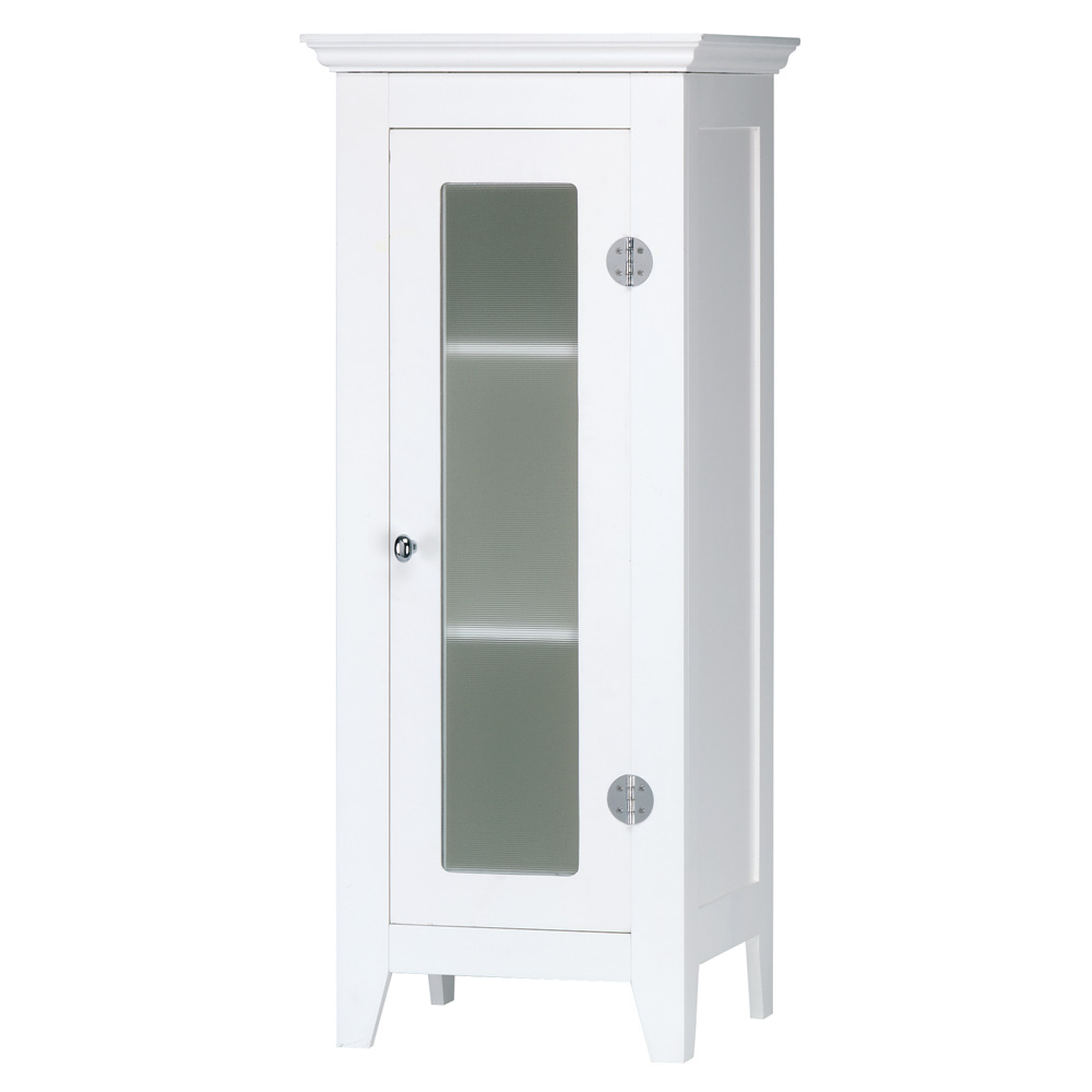 White Wood Storage Cabinet With Glass Door for size 1000 X 1000