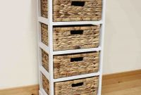 Wicker Storage Shelves Next Bed For Pnut In 2019 Wicker for proportions 1056 X 1056