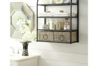 Windsor 24 In W Storage Rack With Two Baskets In Brown for dimensions 1000 X 1000