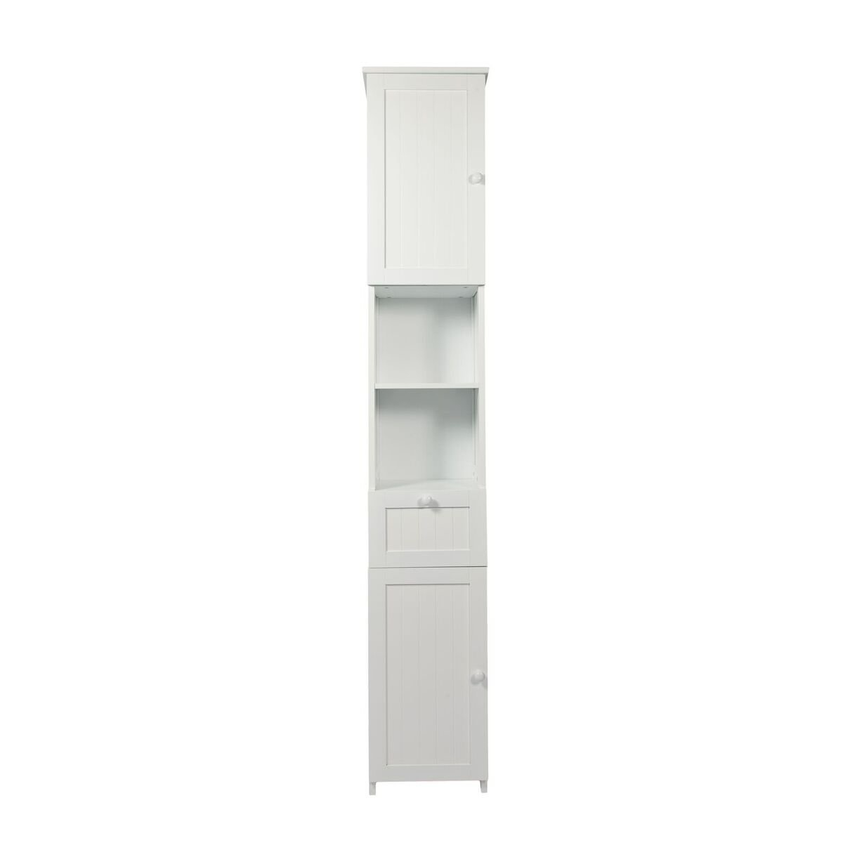 Woodluv Slim Shaker Tall Boy Free Standing Bathroom Storage Cabinet Unit White throughout measurements 1200 X 1200