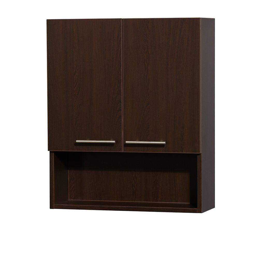 Wyndham Collection Amare 24 In W X 29 In H X 8 34 In D Bathroom Storage Wall Cabinet In Espresso pertaining to size 1000 X 1000