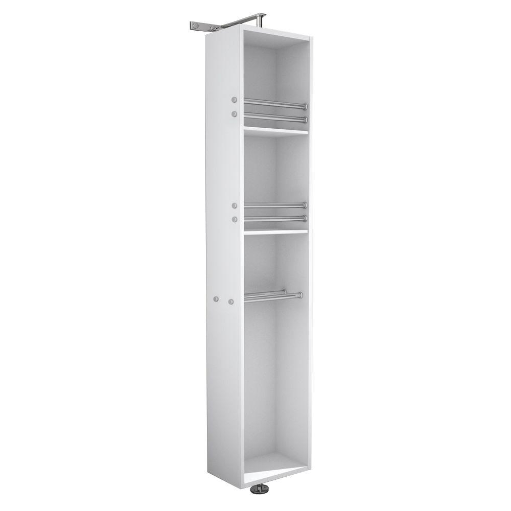 Wyndham Collection April 13 34 In W X 79 12 In H X 15 12 In D Bathroom Linen Storage Tower In White with regard to dimensions 1000 X 1000