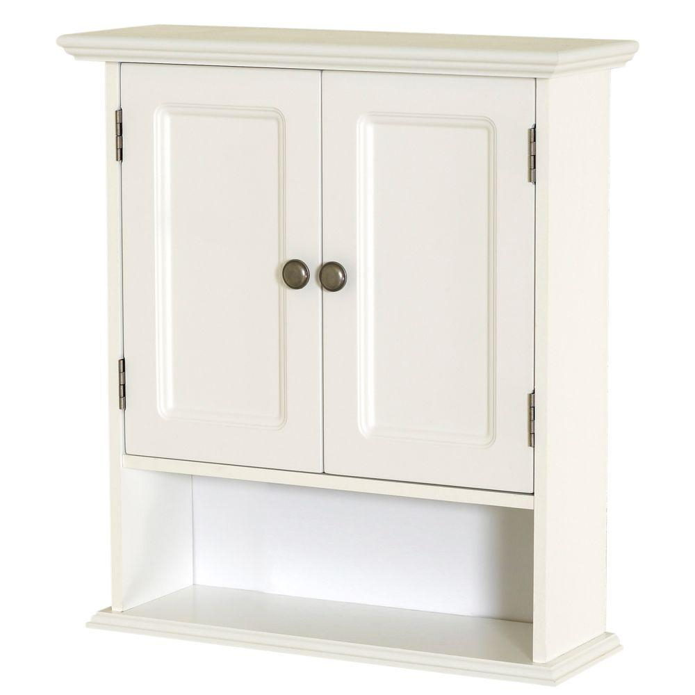 Zenna Home Collette 21 12 In W X 24 In H X 7 In D Bathroom Storage Wall Cabinet In White with size 1000 X 1000